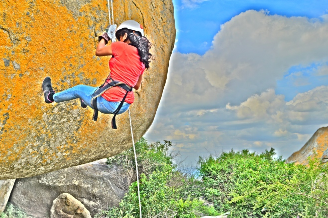 Rappelling in HDR
